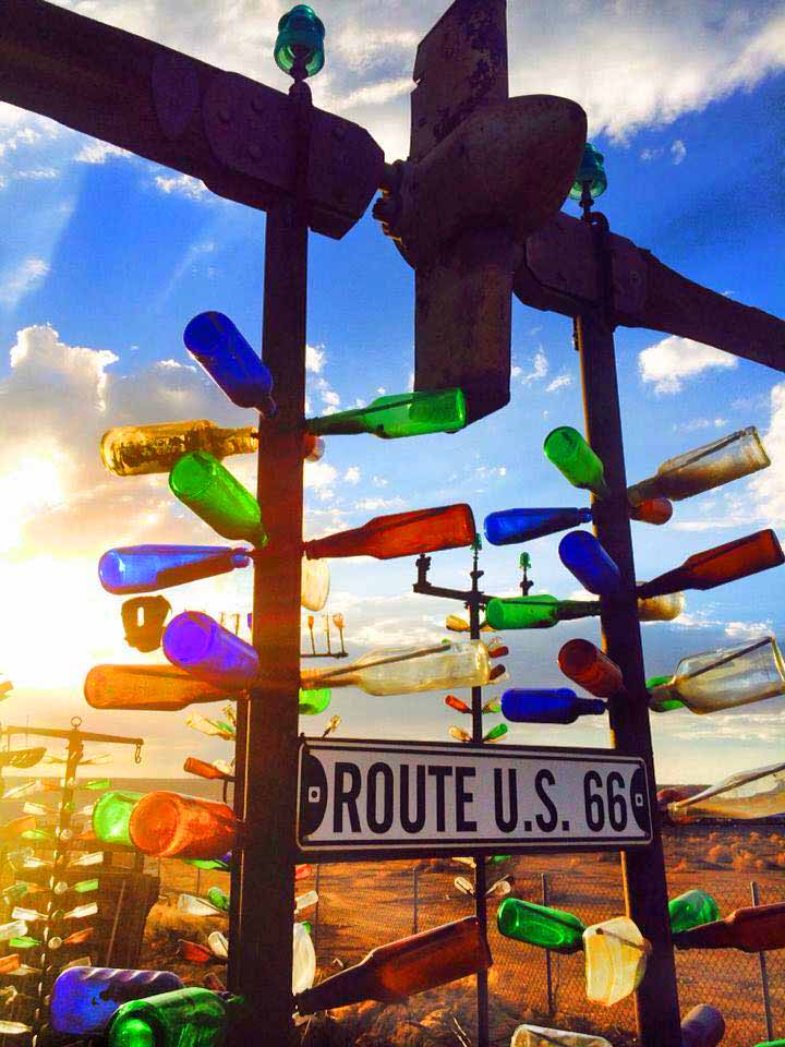 Elmer's Bottle Tree Ranch: Kaleidoscope on Route 66